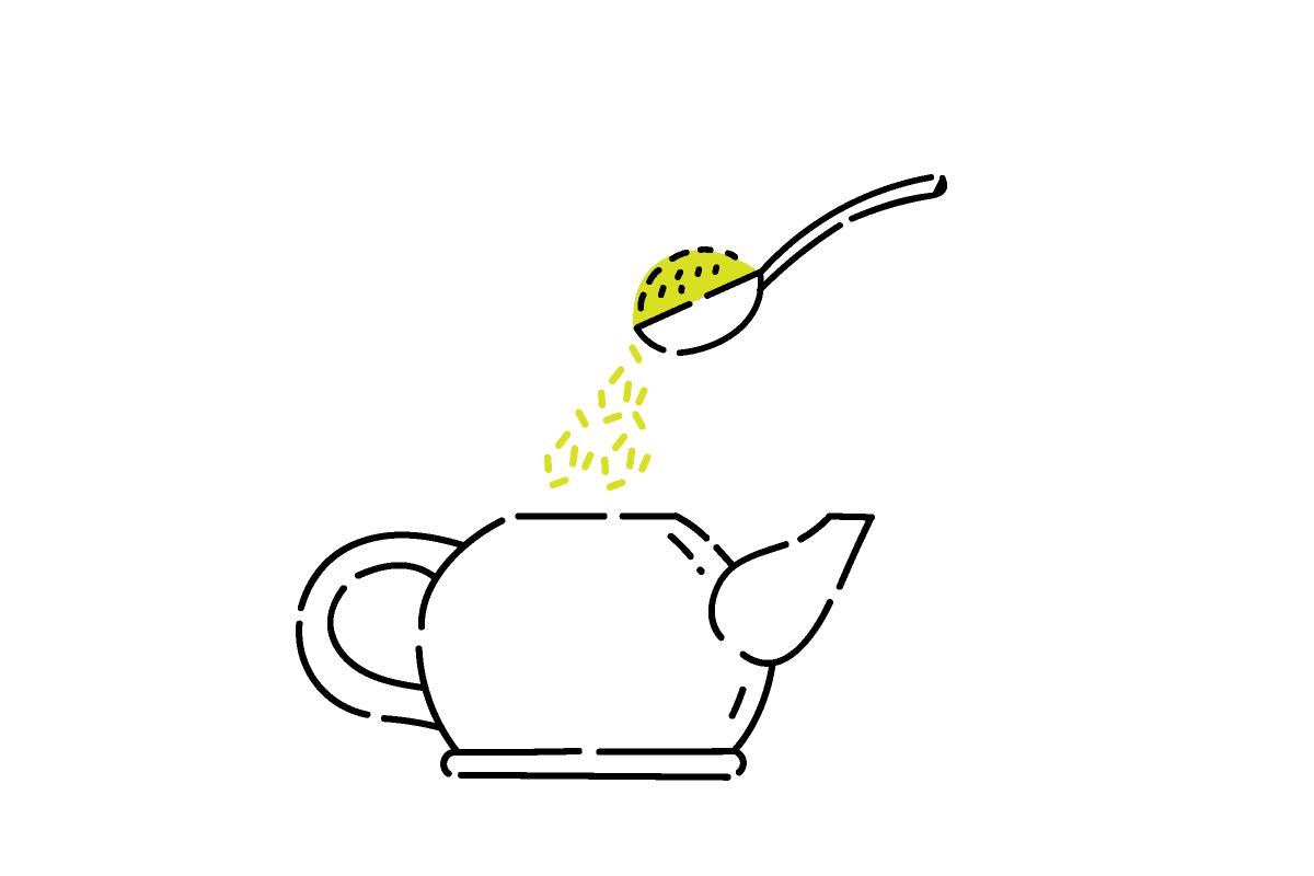 玄米茶の淹れ方1