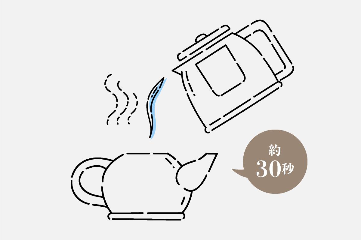 玄米茶の淹れ方2